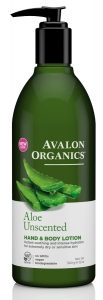 Avalon Aloe Unscented Hand & Body Lotion 340g