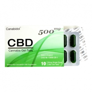 Canabidol CBD Cannabis 500mg 10 Gel-Tablets