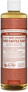 Dr Bronner's 18-In-1 Hemp Eucalyptus Pure-Castile Soap 473ml