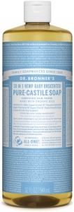 Dr Bronner's 18-in-1 Hemp Baby Unscented Pure-Castile Soap 946ml