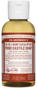 Dr Bronner's 18-In-1 Hemp Eucalyptus Pure-Castile Soap 60ml
