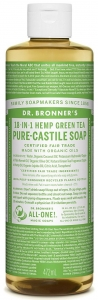 Dr Bronner's 18-In-1 Hemp Green Tea Castile Liquid Soap 473ml