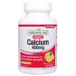Natures Aid Calcium (Chewable) 400mg with Vitamin D3 60 Tablets
