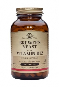 Solgar Brewer's Yeast With Vitamin B12 250 Tablets