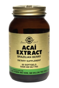 Solgar Acai Extract (Brazilian Berry) 60 Softgels