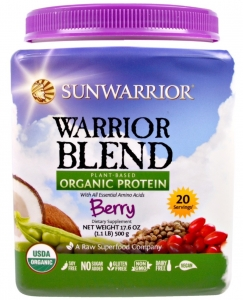 Sunwarrior Organic Warrior Blend Berry 500g