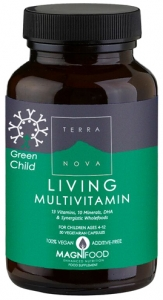 Terra Nova Green Child Living Multivitamin 50 Capsules