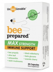 Unbeelievable Bee Prepared Max Strength Immune Formula 20 Capsules