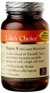 Udos Choice Super 8 Hi-Count Microbiotics 30 Capsules