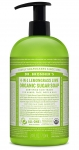 Dr Bronner's 4-In-1 Sugar Lemongrass Lime Organic Pump Soap 709ml