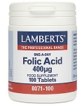 Lamberts Folic Acid 400ug 100 Tablets