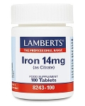 Lamberts Iron 14mg (as Citrate) 100 Tablets