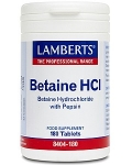 Lamberts Betaine HCI 324mg/Pepsin 5mg 180 Tablets