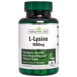 Natures Aid L-Lysine 1000mg 60 Tablets